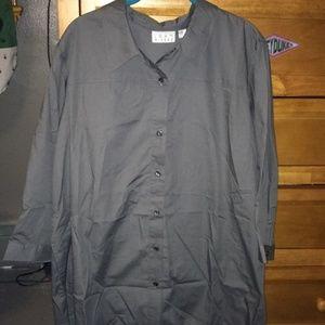 Joan Rivers Button Down Shirt XL Charcoal